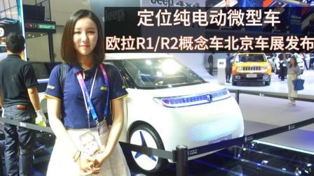 定位纯电动微型车 欧拉R1/R2概念车北京车展发布