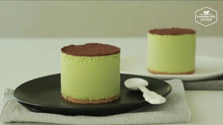夏日清新甜点, 抹茶提拉米苏冰激淋制作过程