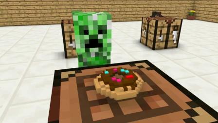 我的世界动画: 怪物学院之做蛋糕比赛, 第一次全班得A, 不容易!