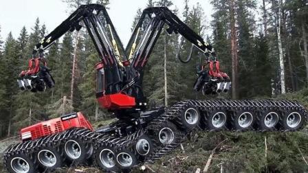 看了这先进的伐木机械后, 可以看出这机械制造业真的不一般!
