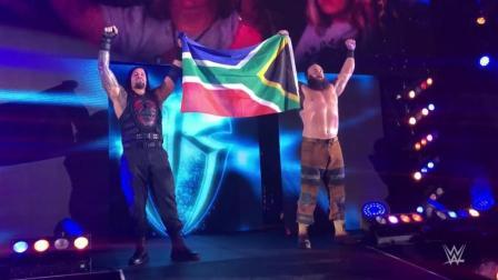 WWE南非现场秀 人间怪兽和罗门-伦斯短暂结盟 赛后和粉丝热情互动