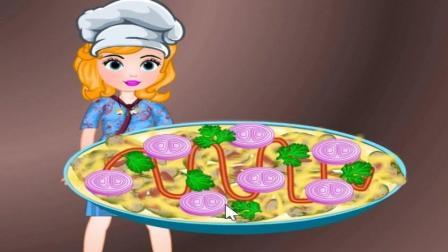 索非亚制作披萨 亲子小游戏视频