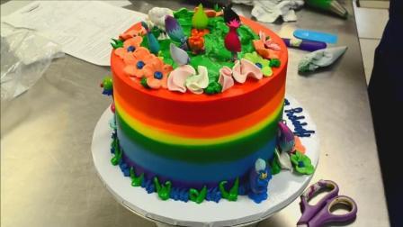 教你在家做彩虹层蛋糕, 高颜值又美味, 一般人我不告诉他