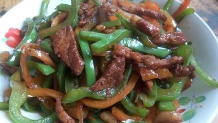 午饭必学青椒肉丝打卤面, 食材简单, 做法简洁, 比红烧肉面还好吃