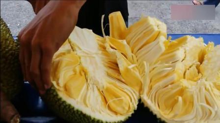 看高手是如何切菠萝蜜的, 切的又快又好