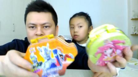 试吃奥特曼棉花糖、巴拉巴拉小魔仙棉花糖