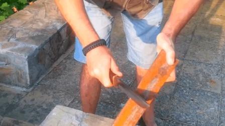 """好刀! 耗时5天锻造出炉""""轴承钢刀"""", 削铁如泥不再是神话"""