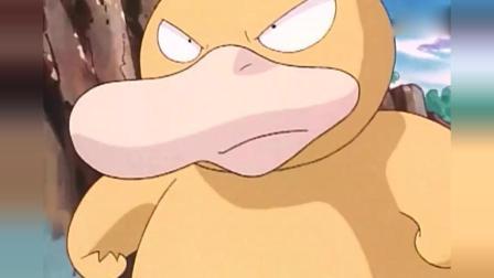 神奇宝贝: 可达鸭第一次认真的战斗, 实力惊人, 但看了还是想笑!