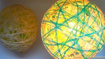 抖音超人气DIY, 气球藤球灯制作详细教程
