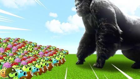 在《我的世界》中, 成千上万的植物对抗金刚! 谁能活下来?