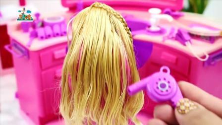 芭比娃娃做卷发, 追风亲子游戏