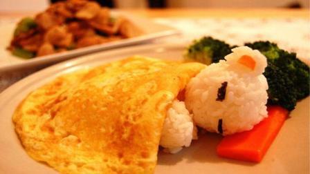 小熊蛋包饭: 为孩子做一顿可爱的早餐, 为她带来一天好心情哦!