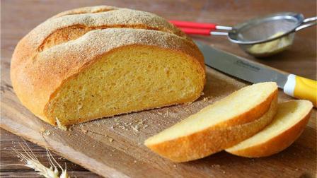 用玉米面做的粗粮面包, 无糖、健康养生, 看一遍就能学会!