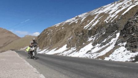 骑友骑行中国7个月到达大冬树山垭口, 激动得不行, 感谢大家的支持