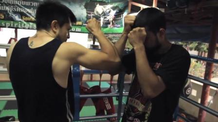 教你一套泰拳实用的肘击打法! 泰拳新手教学