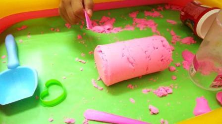萌宝玩沙子, 过家家玩具, 制作草莓香蕉菠萝冰淇淋