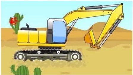 越野车飙车赛 赛车总动员 挖掘机 推土机 吊车 大卡车 汽车总动员动画片国语版