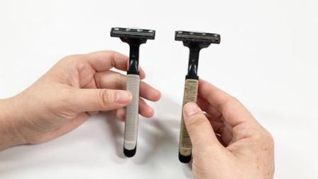 剃须刀钝了不用换刀头, 一个妙招帮你解决, 用它刮一刮立马变锋利