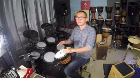 凯文先生《我要吃肉肉》非洲鼓演奏丽江手鼓箱鼓卡宏鼓