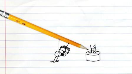 搞笑铅笔动画 这笔神了 画出的人像活了 这是神笔马良再世吗