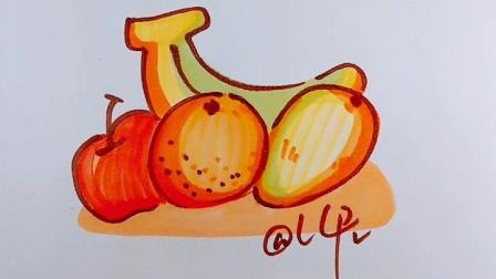 【Q版水果】教你画各种各样的水果Q版