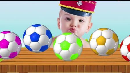 儿童色彩和英语启蒙早教, 卡通小企鹅把男宝宝的足球抱走了!