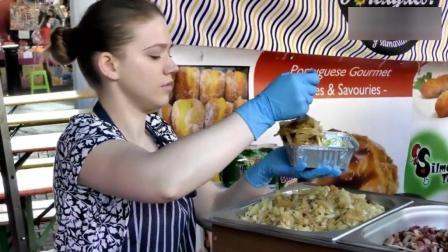 伦敦街头卖饺子的英国小姐姐, 不看馅料和外形, 我们还是好朋友!