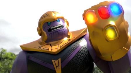 乐高版《复仇者联盟3》, 灭霸戴着无限手套大战复仇者众人