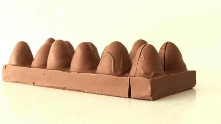 """牛人做的巧克力""""鸡蛋"""", 切开一看, 原来里面才是精华!"""