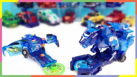 兜糖爆裂飞车玩具 机甲兽神之爆裂飞车风暴猎鹰VS绝地雄狮兽神合体变形玩具