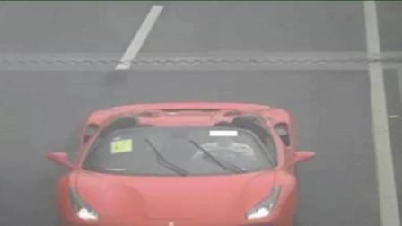 尴不尴尬! 小伙想显摆偷来的超跑却不懂操作淋雨兜风