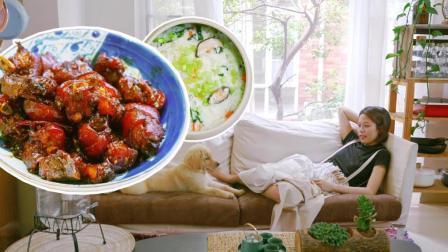 必吃的一道菜, Q弹有嚼劲的猪蹄, 搭配解腻的蔬菜粥越啃越开心