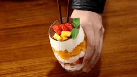 一点水果, 一点奶油, 教你做好看又好吃的水果奶油杯, 做法简单易学