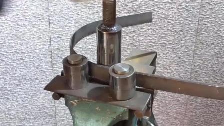 简易卷圆折弯机制作, 只有几个零件构成