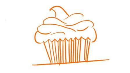 小蛋糕简笔画, 简单易学, 一看就会