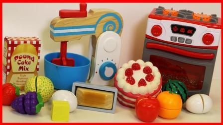 北美玩具 第一季 厨房玩具,用搅拌机与烤箱做面包与蛋糕