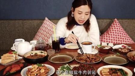 大胃王密子君跑到新疆去吃特色! 满满一桌子饭是20个人的分量啊!