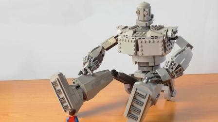 """创意手工DIY, 教你用乐高积木制作""""钢铁巨人""""的方法"""