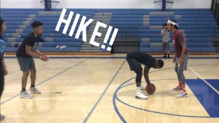 篮球新玩法! 必须双手摸球, 太搞笑了