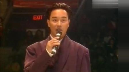 张国荣第一次现场演唱《侧面》, 边唱边跳, 台下的观众都沸腾了
