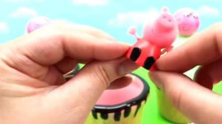 创意趣味玩具: 小猪佩奇七彩蛋筒冰淇淋, 创意亲子新玩法!