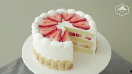 独特的水果蛋糕, 草莓香蕉芝士蛋糕制作过程