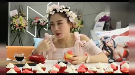 今天吃蛋糕的密子君很漂亮哦, 这小甜点, 很想吃