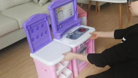 必乐BL101厨房过家家儿童切水果蔬菜切切乐玩具蛋糕仿真厨房组合套装宝宝女孩男孩扮演