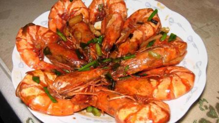 红烧大虾的家常做法, 多加一料, 简单又美味!