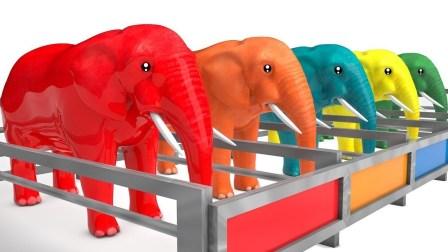 儿童学英语视频 颜色大象动物棚惊喜蛋水果卡通儿童英语歌惊喜教育视频【俊和他的玩具