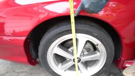 看牛人现场汽车改装减震器, 全程一人搞定