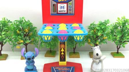 汤圆玩具屋倒霉熊 倒霉熊和星际宝贝玩弹球投篮