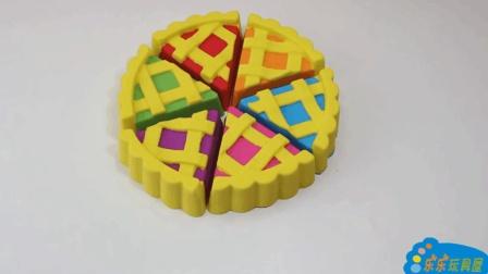 水果蛋糕做起来一点也不难, 小朋友一起来做蛋糕学颜色啦!
