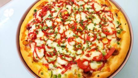 这个披萨真不错, 材料自家取, 操作方便又好吃, 半小时就能吃上!